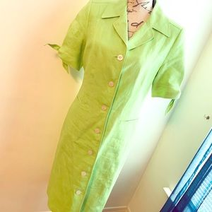 Anne Klein Linen Dress 👗 Size 6